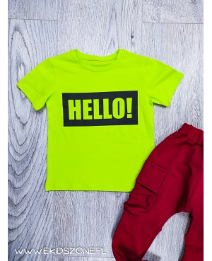 t-shirt mimi limonka hello