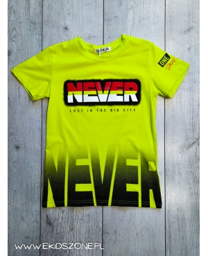 T-SHIRT NEVER LIMONKOWY