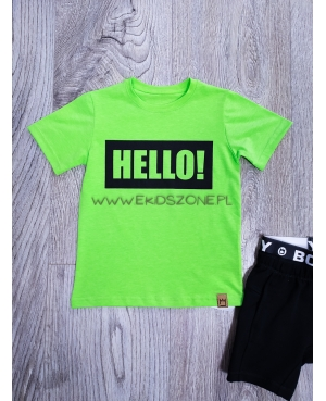 T-SHIRT MIMI HELLO ZIELONY