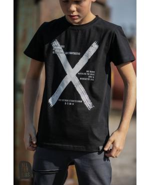 T-SHIRT X ALL FOR KIDS czarny